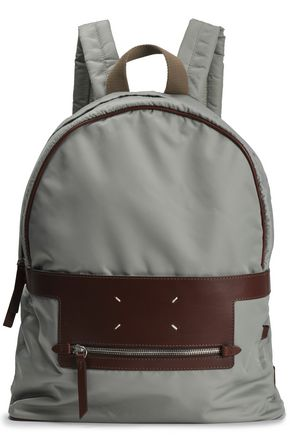 MAISON MARGIELA Leather-trimmed shell backpack