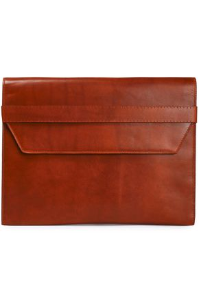 MAISON MARGIELA Brushed-leather clutch
