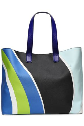 EMILIO PUCCI Printed faux textured-leather tote