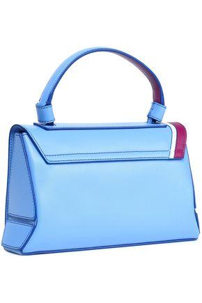 EMILIO PUCCI Paneled appliquéd leather shoulder bag