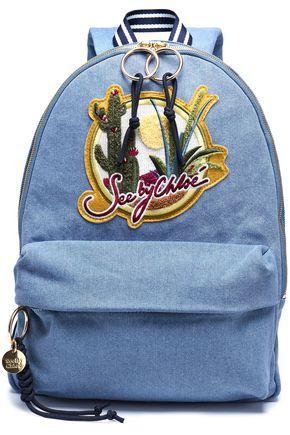 SEE BY CHLOÉ Appliquéd denim backpack