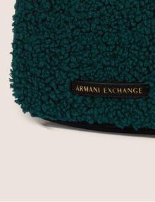 ARMANI EXCHANGE FAUX SHEARLING ZIP-TOP BAG Crossbody bag Woman a