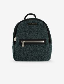 ARMANI EXCHANGE FAUX-SHEARLING MINI BACKPACK Backpack [*** pickupInStoreShipping_info ***] f
