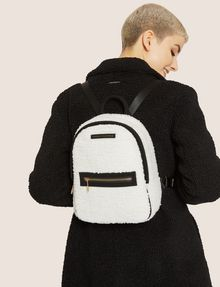 ARMANI EXCHANGE FAUX-SHEARLING MINI BACKPACK Backpack Woman r