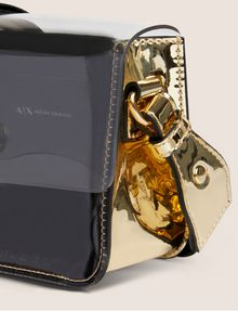 ARMANI EXCHANGE CLEAR FLAP COLORBLOCKED CROSSBODY Crossbody bag [*** pickupInStoreShipping_info ***] a