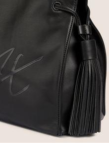 ARMANI EXCHANGE DOUBLE TASSEL SCRIPT TOTE Satchel bag [*** pickupInStoreShipping_info ***] a