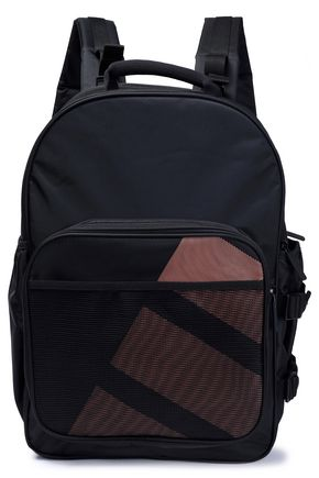 ADIDAS ORIGINALS Mesh-paneled canvas backpack