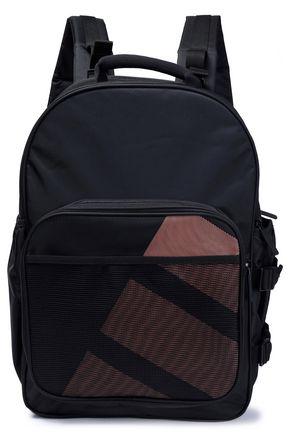 ADIDAS ORIGINALS Mesh-paneled canvas backpack