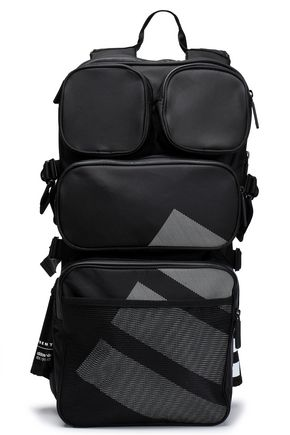 ADIDAS ORIGINALS Mesh-paneled printed twill backpack