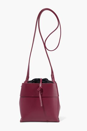 KARA Leather bucket bag