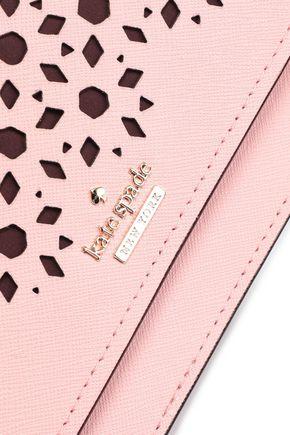 KATE SPADE New York Laser-cut textured-leather shoulder bag