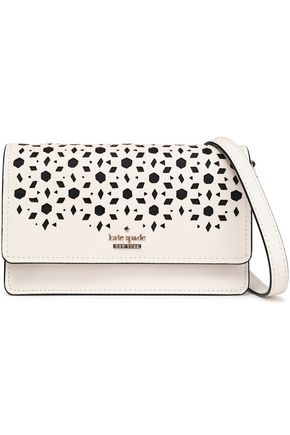 KATE SPADE New York Laser-cut textured-leather shoulder bag