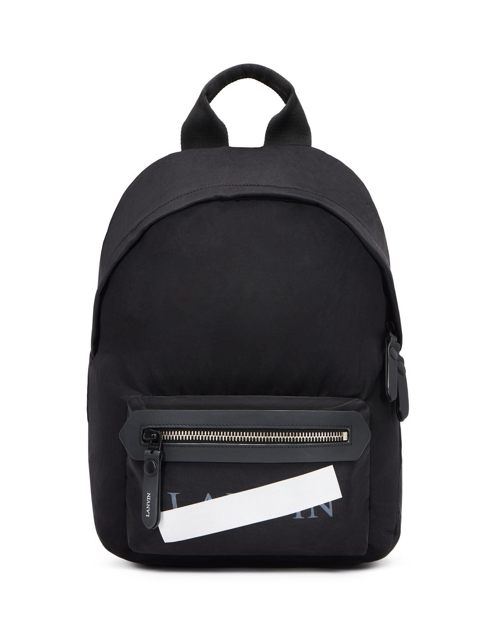 "BLACK ZIPPERED ""LANVIN"" BACKPACK - Lanvin"