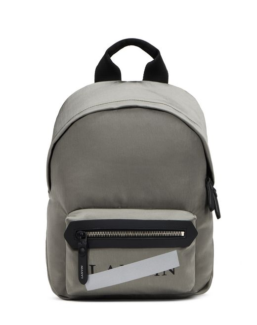 "GRAY ZIPPERED ""LANVIN"" BACKPACK - Lanvin"