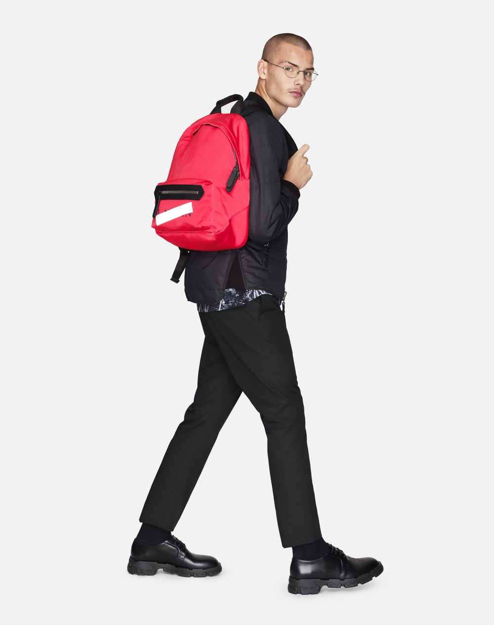 "CORAL ZIPPERED ""LANVIN"" BACKPACK - Lanvin"