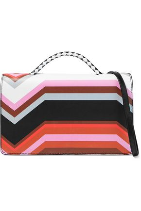 MISSONI Printed leather shoulder bag