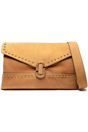 MARC JACOBS Studded suede shoulder bag