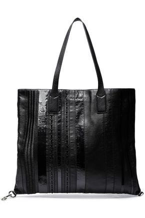 MARC JACOBS Embellished textured-leather tote