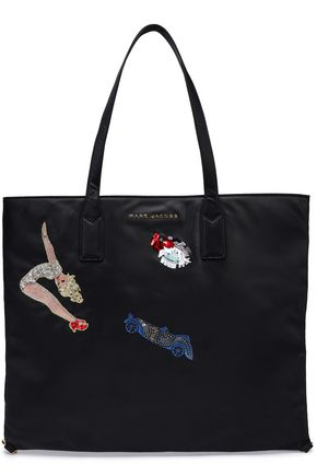 MARC JACOBS Embellished embroidered shell tote