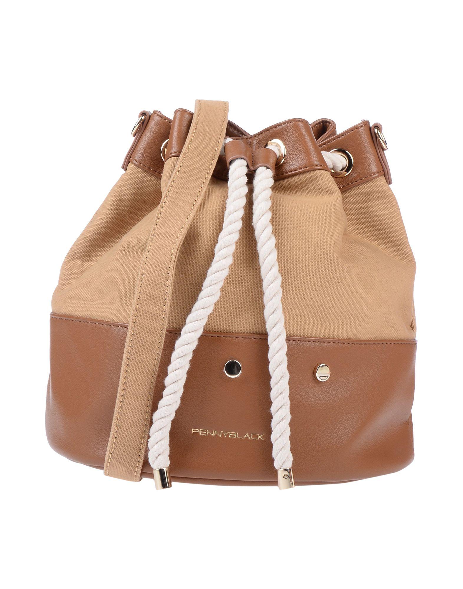 《送料無料》PENNYBLACK レディース メッセンジャーバッグ キャメル 紡績繊維