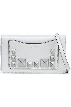MARC JACOBS Studded textured-leather shoulder bag