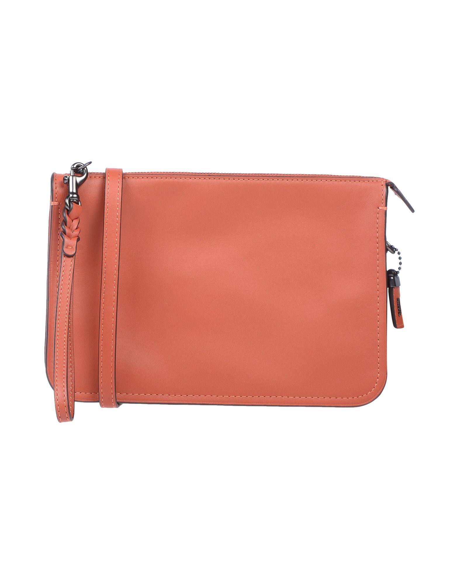 《送料無料》COACH レディース メッセンジャーバッグ 赤茶色 革