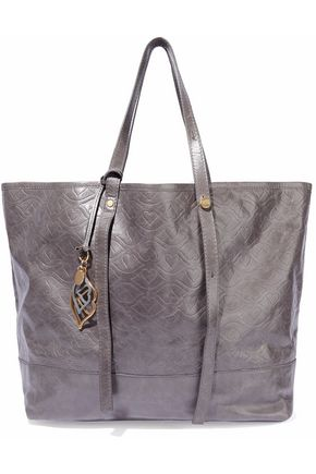 SEE BY CHLOÉ Embossed cracked-leather tote