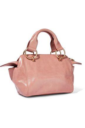 SEE BY CHLOÉ Embellished glossed-leather shoulder bag