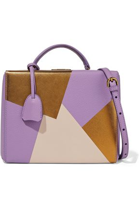 MARK CROSS Grace color-block smooth and textured-leather shoulder bag