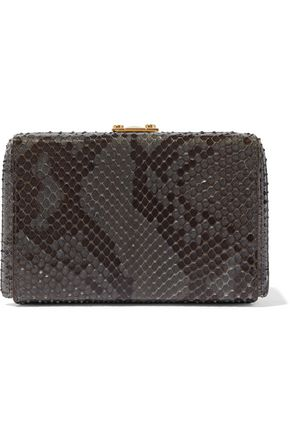 MARK CROSS Grace python box clutch