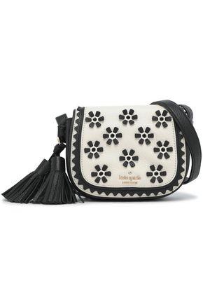 KATE SPADE New York Lietta Bryant Court embellished textured-leather shoulder bag