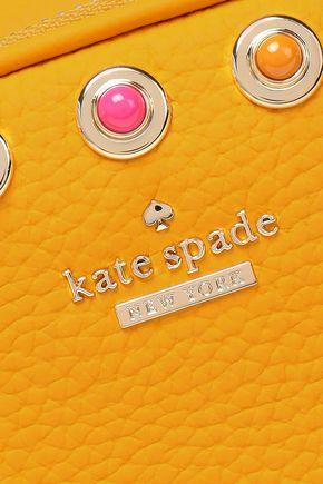 KATE SPADE New York Tinley Devoe Street embellished textured-leather shoulder bag