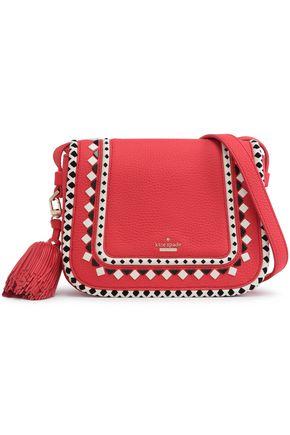 KATE SPADE New York Jasper Crown Street embellished textured-leather shoulder bag