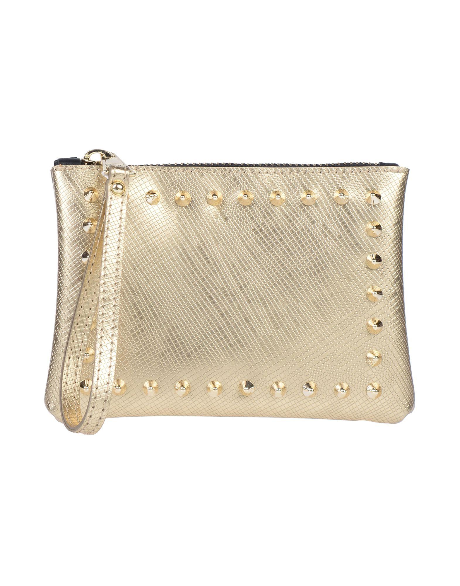 《送料無料》GUM BY GIANNI CHIARINI レディース ハンドバッグ ゴールド 紡績繊維