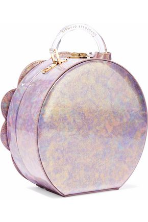 CHARLOTTE OLYMPIA Neptune Atkinson embellished iridescent leather shoulder bag