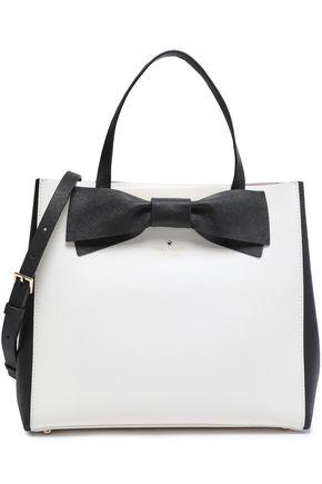 KATE SPADE New York Clement Street Brigette bow-embellished leather shoulder bag