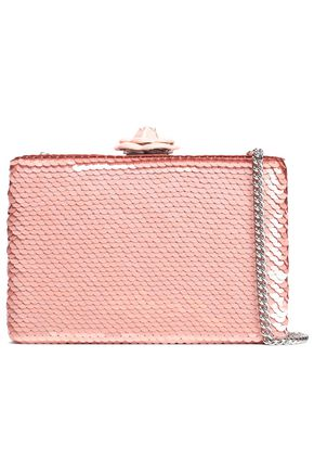 OSCAR DE LA RENTA Sequined silk shoulder bag