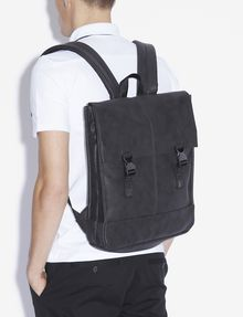 ARMANI EXCHANGE PEBBLED BUCKLE BACKPACK Backpack [*** pickupInStoreShippingNotGuaranteed_info ***] r