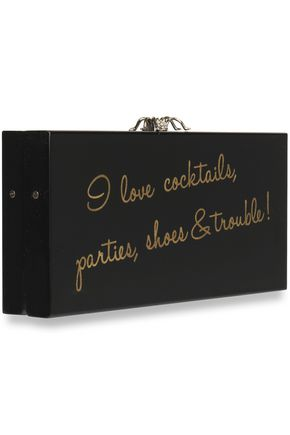 CHARLOTTE OLYMPIA Drink Up Penelope! embellished perspex clutch