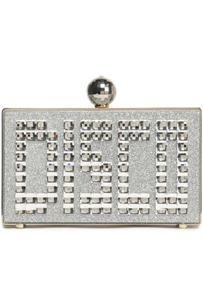 CHARLOTTE OLYMPIA Disco Pandora embellished glittered perspex clutch
