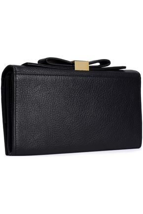 SEE BY CHLOÉ Bow-detailed leather clutch