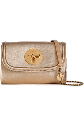 SEE BY CHLOÉ Metallic textured-leather shoulder bag