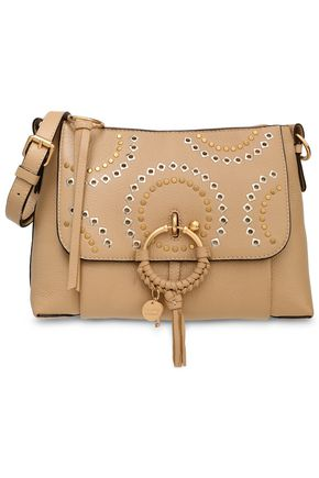 SEE BY CHLOÉ Embellished textured-leather shoulder bag