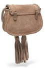 SEE BY CHLOÉ Convertible tasseled leather-trimmed suede shoulder bag