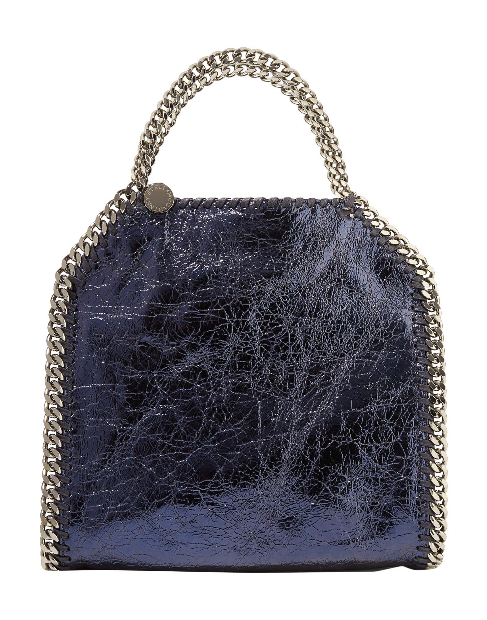 《送料無料》STELLA McCARTNEY レディース ハンドバッグ ダークブルー 紡績繊維