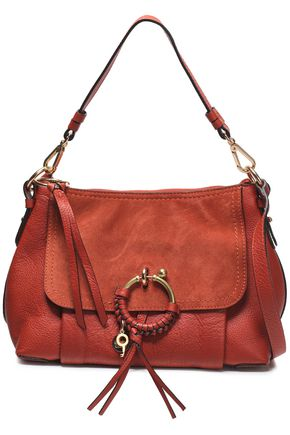 SEE BY CHLOÉ Suede and textured-leather shoulder bag