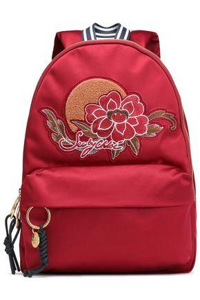 SEE BY CHLOÉ Appliquéd satin backpack