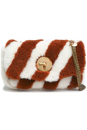 SEE BY CHLOÉ Striped shearling shoulder bag