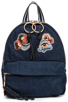 SEE BY CHLOÉ Appliquéd denim backpack
