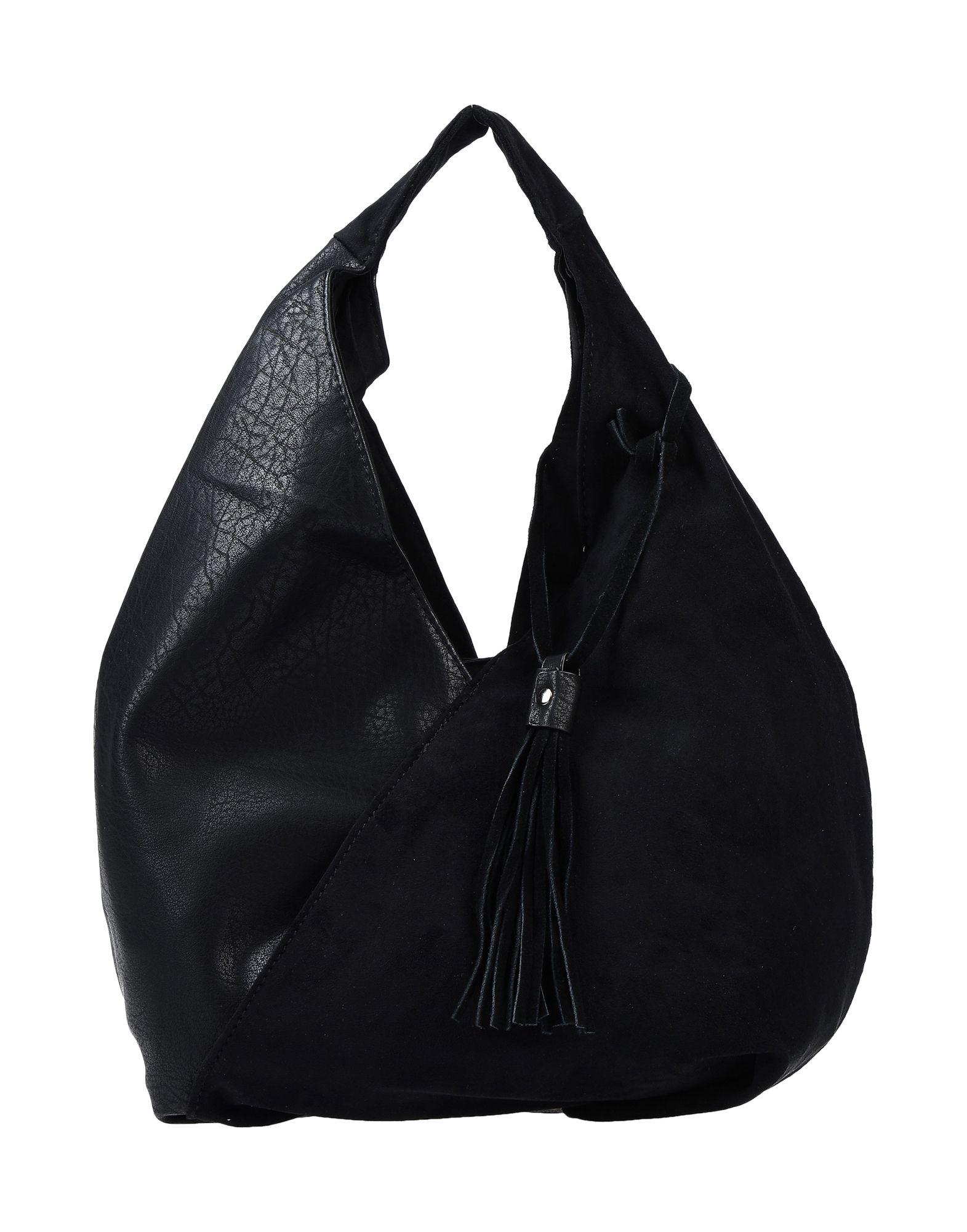 《送料無料》TSD12 レディース ハンドバッグ ブラック 革 / 紡績繊維